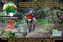 Recreativas Agosto 2015 / Eventos de Ciclismo Recreativo MTB en Costa Rica Para el mes de Agosto 2015