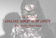 ONLINE shop Open  - www.gallery58.eu/shop / The NEW paul seville + steph aman online shop is now open www.gallery58.eu/shop