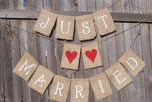 Creative wedding banners and signs / Napa valley wedding banners, Napa wedding signage, rustic wedding signage ideas