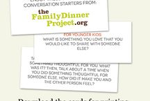 Thanksgiving and #Giving Tuesday / Conversation starters, recipes, games, activities and more / by The Family Dinner Project Pins