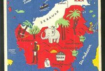 Maps & Flags - Asia / by Jill Snowdon