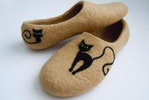 Plstěné papuče