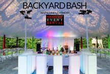 Backyard Bash / Create the ultimate backyard bash with designer event rental furniture and lighting from Modern Event Rental. We transform your Illinois event vision into reality!