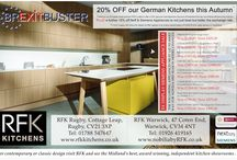 Autumn Sale / 20% OFF our German Kitchens this Autumn*  Thanks to our European trade partners RFK is able to offer a 20% genuine manufacturers discount off selected Schuller and Nobilia Kitchens this Autumn PLUS a further 10% off Neff & Siemens Appliances to not just beat but better the exchange rate.  *T's & C's apply call instore for details & Offer applies to all orders placed before 31/10/2016 & for asap delivery or installation