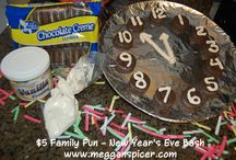 $5 Family Fun - New Year's Eve Bash  / $5 Family Fun - New Year's Eve Bash  Total Activity Cost: $5  Since most kids will be fast asleep at midnight, let your kids ring in 2014 at noon instead so they still get to countdown to 12.  Enjoy these fun & easy ideas to create a New Year's Eve party for your family for just $5!   www.megganspicer.com