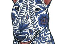 Bullterrier paint art