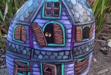 Камушки с улыбкой / Картинки на камнях...для дома, балкона, сада.