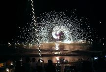 Fire Spinning Shows Thailand - Island Info / Amazingly talented fire-spinners displaying a never-ending array of spectacular shows.  Tickets for tours and activities available at Island Info, inside Ark Bar Beach Resort Island Info Samui http://islandinfokohsamui.com/ / by Island Info Samui