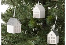 winter cabins christmas decoration