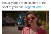 Agent Carter / Peggy Carter. A woman that serves life by her recipe.  And a series that was brutally taken away from my heart.