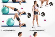 Ejercicio ♥ / Aquí hay algunas rutinas que podemos hacer para el bienestar de nuestro cuerpo. Y estas imágenes te ayudarán para tener tu cuerpo ideal. Suerte!!