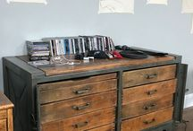David's Industrial Music Studio / OUr customer David kitted out his entire music studio with our furniture!
