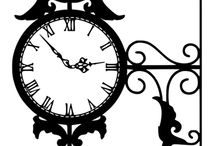 wzory zegar , latarnia, klucz