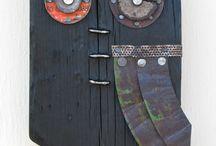 Folk art wood