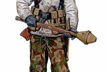 WW II german soldier uniform