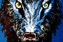Wolf. The way of animal guide