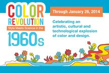 """Color Revolution / Pins from ATHM's special exhibition, """"Color Revolution: Style Meets Science in the 1960s"""" and more!"""