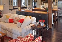 Kitchen and living room combos