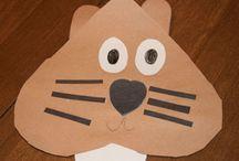 february art (groundhog)
