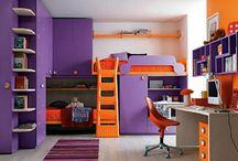 Orange and purple tween room