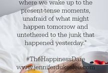 Books: The Happiness Dare / Inspired by the book from JenniferDukesLee.com