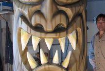 Tiki Head & Totem pole, Masks