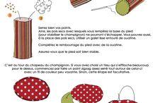 champignon tissu