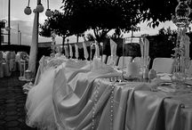 White outdoor wedding decoration / A little touch of elegance
