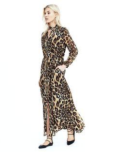 Leopard Maxi Dress - Banana Republic