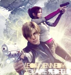 Leon Kennedy x Claire Redfield by Daphnecool.