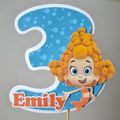 Cake Topper Bubble Guppies Birthday Party by bcpaperdesigns, $12.00