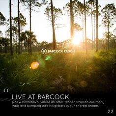 When was the last time you enjoyed an after-dinner stroll? Take a walk in beautiful Babcock Ranch and get connected to nature and neighbors.