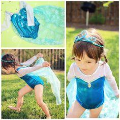 Frozen Elsa swimsuit With Cape  frozen swimsuit by ForPrincesses, $38.99