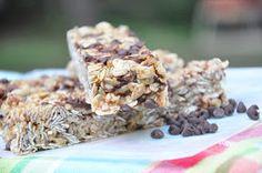 Dessert First...: No Bake Chocolate Chip Granola Bars