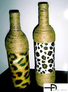 Thaise Artes: Garrafas decoradas