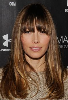 Jessica Biel Rocks Longer Bangs
