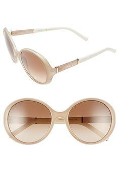 Chloe 'Daisy' 58mm Round Sunglasses