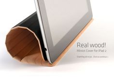 A wood iPad2 cover. Even comes in different colors of wood. Dang. #ipad2 #miniot #ipadcase