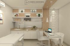 Organize and clean design for your Spa Treatment room. Organize and clean design for your Spa Treatment room. Massage Room Decor, Spa Room Decor, Massage Therapy Rooms, Spa Interior, Clinic Interior Design, Clinic Design, Interior Livingroom, Home Spa Room, Spa Rooms
