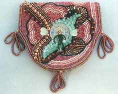 beadwork on pouch