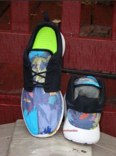 be2afa485481 Custom Nike Roshe Run- Popular Palm Tree Tropical Blast Nike Roshe Runs -  Women