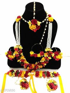 Jewellery Set Fancy Floral Artificial Flower Women's Jewellery Set Base Metal: Fabric Plating: No Plating Stone Type: Pearls Sizing: Adjustable Type: As Per Image Multipack: 2 Necklaces (For J-Set) Country of Origin: India Sizes Available: Free Size   Catalog Rating: ★4 (427)  Catalog Name: Princess Graceful Jewellery Sets CatalogID_1484538 C77-SC1093 Code: 074-8709890-9931