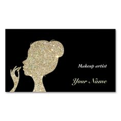 Sparkles and Glitter makeup artist Business Card Business Card. Make your own business card with this great design. All you need is to add your info to this template. Click the image to try it out!