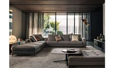 Minotti Italian furniture completely encompasses luxury and style. Minotti is only available in Calgary at Shaun Ford & Co. Living Room Modern, Living Room Interior, Home Living Room, Home Interior Design, Living Room Furniture, Living Room Designs, Living Room Decor, Living Spaces, Dining Room