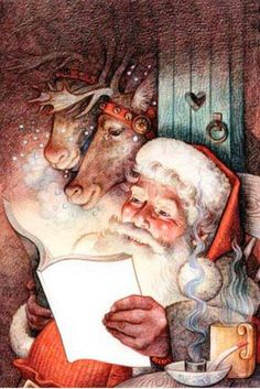 Vintage Santa Claus (The story of Santa Claus - Burbujitas)