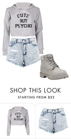 """Untitled #176"" by cruciangyul on Polyvore featuring Boohoo and Timberland"