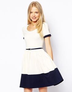 ASOS skater dress with contrast band