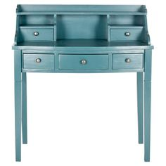 Pen letters or scrapbook in style with this charming writing desk, showcasing 5 drawers and 3 open compartments.   Product: Des...