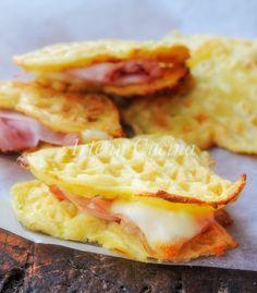 Waffle di patate e formaggio farciti ricetta facile vickyart arte in cucina