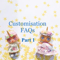 Ive been receiving a lot of messages on customisation so here are some answers to FAQ. Customisation - answers to FAQs!  1. Do you sell your customised dolls?  No I dont. LOL dolls are hard to come by in Singapore and quite expensive so everything I have I will be keeping ! Haha!  2. Can I send my dolls to you to be customised ?  Yes. I live in SINGAPORE so you will have to send me the dolls via tracking to make sure I receive them. Once finished you will also have to bear the shipping costs…